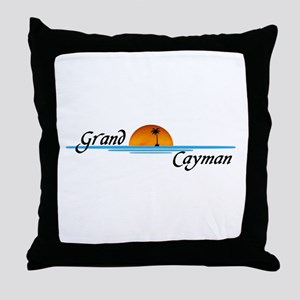 Grand Cayman Sunset Throw Pillow
